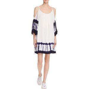 PPLA Adelina Tie Dye Cold Shoulder Dress Size S
